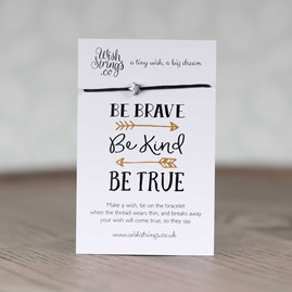 'Be Brave, Be Kind, Be True' Star Wish Bracelet