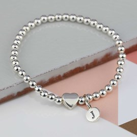 Personalised Milly Silver Heart Bracelet