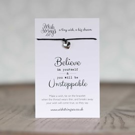 'Believe In Yourself…' Heart Wish Bracelet