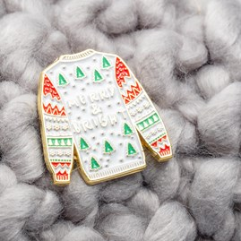 'Merry And Bright' Christmas Pin Badge