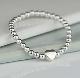 Tilly Children's Silver Heart Bracelet