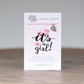 'It's A Girl' Tiny Feet Wish Bracelet
