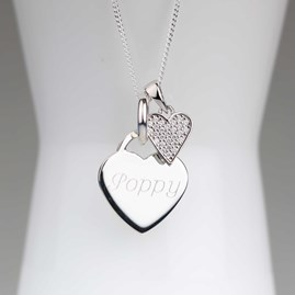 Personalised Children's Silver Heart Necklace