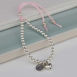 Personalised Children's Silver Friendship Bracelet