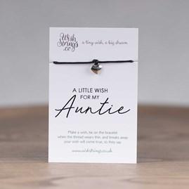 Little Wish 'Auntie' Heart Wish Bracelet