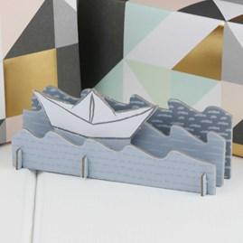 3D Sail Boat Happy Birthday Card