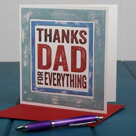 'Thanks Dad For Everything' Card