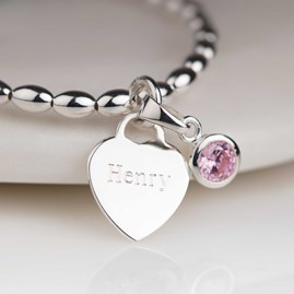 Personalised Children's Birthstone Bracelet
