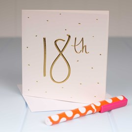 Katie Loxton Embossed '18th' Birthday Card
