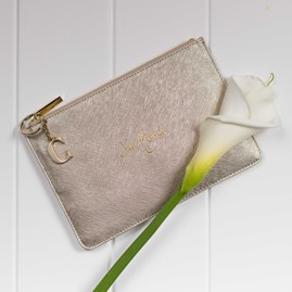 Personalised 'Just Married' Perfect Pouch