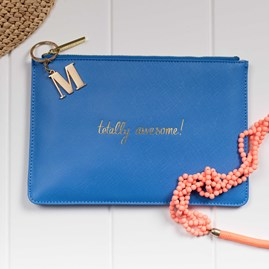 Katie Loxton Personalised 'Totally Awesome' Blue Perfect Pouch