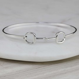 Solid Silver Riding Snaffle Bangle