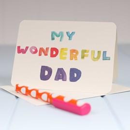 'My Wonderful Dad' Greetings Card