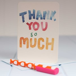 'Thank You So Much' Greetings Card