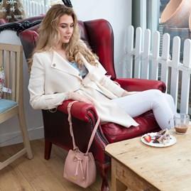 Katie Loxton Personalised Mini Chloe Bucket Bag In Pink