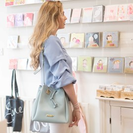 Katie Loxton Personalised Chloe Bucket Bag In Aqua