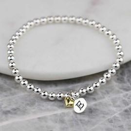 Personalised Mia Gold Heart Bracelet