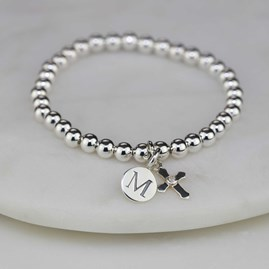 Personalised Children's Silver Christening Bracelet