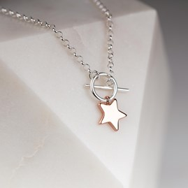 Rose Gold Star Charm Bracelet