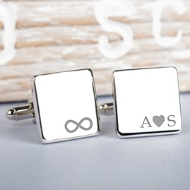 Personalised Silver 'Our Initials' Cufflinks