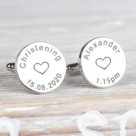 Christening Day Silver Cufflinks