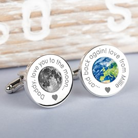 Personalised 'Daddy, Love You…' Silver Cufflinks