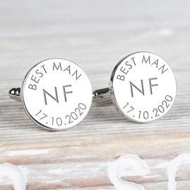 Personalised Wedding Initial Cufflinks
