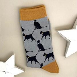 Bamboo Lucky Cat Socks In Grey