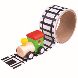 Railway Tape with Wooden Train