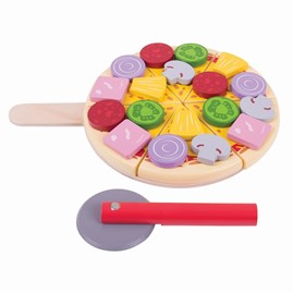 Wooden Cutting Pizza Play Food
