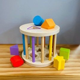 Children's Wooden First Rolling Shape Sorter