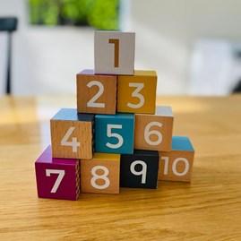 Children's Wooden Number Blocks