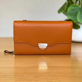 Clutch Bag in Brown