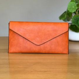 Cross Body Clutch Bag in Orange