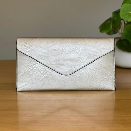 Cross Body Clutch Bag in Silver