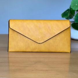 Cross Body Clutch Bag in Yellow