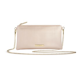 Katie Loxton Personalised Freya Crossbody Bag In Metallic Champagne