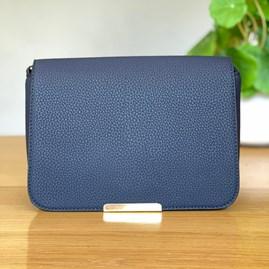 Fold Over Cross Body Bag in Blue