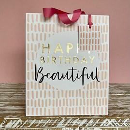 'Happy Birthday Beautiful' Large Gift Bag