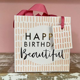 'Happy Birthday Beautiful' Small Gift Bag