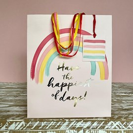 'Have The Happiest Of Days' Medium Gift Bag