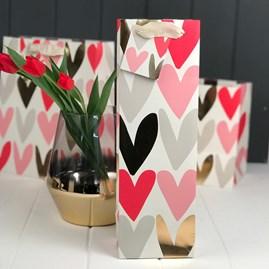 Caroline Gardner Hearts Bottle Gift Bag