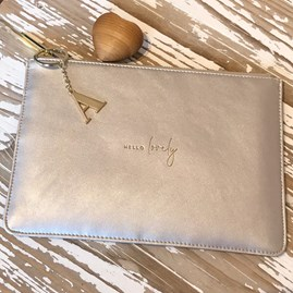 Katie Loxton Personalised 'Hello Lovely' White Perfect Pouch