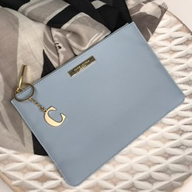 Katie Loxton Personalised Pebble Pouch In Sky Blue
