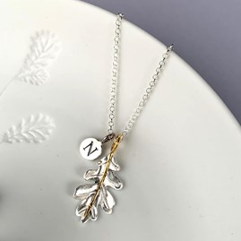 Personalised Oak Leaf Pendant