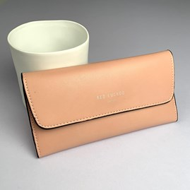Pastel Fold Over Purse In Pink