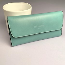 Pastel Fold Over Purse In Mint