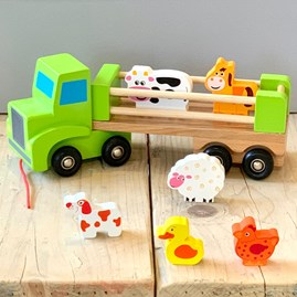Wooden Farm Lorry And Animals