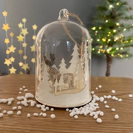 Stag In Forest Snow Globe