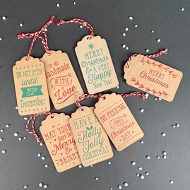 Wooden Christmas Gift Tag